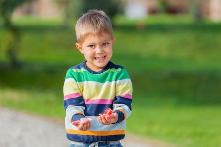 Portrait of little boy  photo