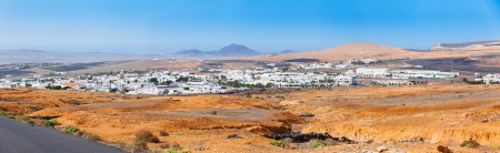 Typical houses on the island of Lanzarote Stock Photo - 16549996