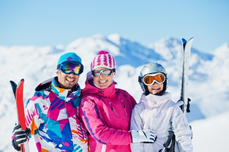 Happy skiers photo