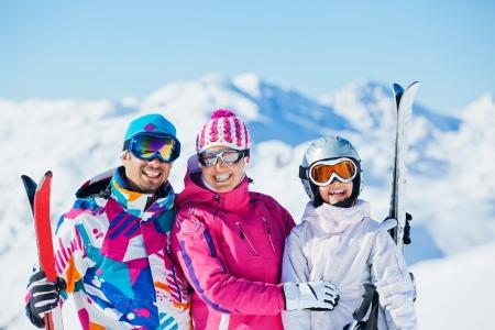 Happy skiers photo