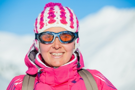 Young woman in a ski wear photo