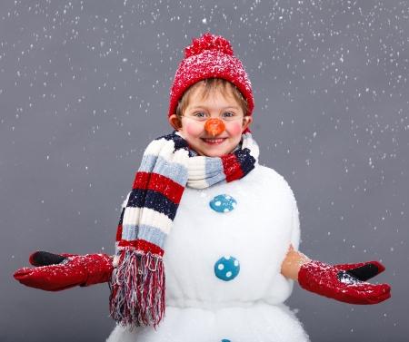 christmas eve: Snowman Stock Photo