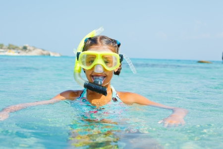 The girl in scuba mask photo