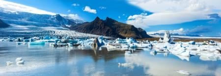 Fjallsarlon の美しいパノラマ写真 写真素材