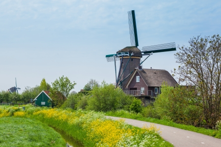 airstream: Windmill on the outskirts of Amsterdam  Holland the Netherlands