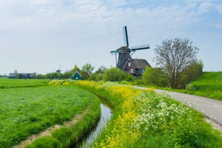 Windmill on the outskirts of Amsterdam  Holland the Netherlands Stock Photo - 17968061