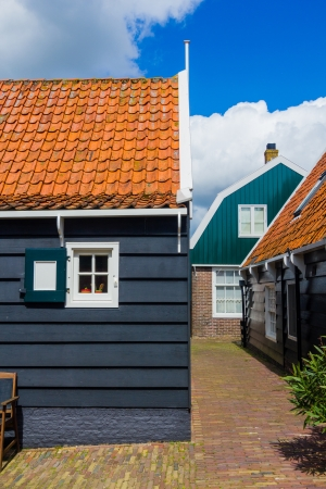 marken: Window of a typical house in Marken, Netherlands, a small fisherman s town