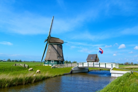 Windmill on the outskirts of Amsterdam  Holland the Netherlands photo