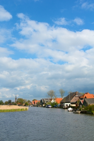 Typical dutch landscape in springtime in the Netherlands  Vertical view Stock Photo - 19085140