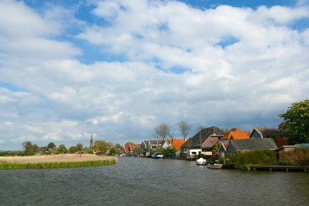 Typical dutch landscape in springtime in the Netherlands Stock Photo - 19085150