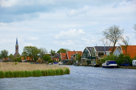 Typical dutch landscape in springtime in the Netherlands Stock Photo - 19085180
