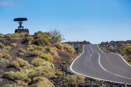 manrique: Road in Timanfaya National Park in Lanzarote, Canary Islands, Spain
