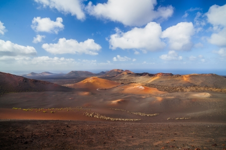 timanfaya: Volcanic crater in Mountains of fire,Timanfaya National Park in Lanzarote Island