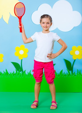 Lovely Young girl wearing colorful summer clothing on Fashion and Beauty Summer theme Stock Photo - 27467233