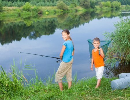 Kids fishing photo
