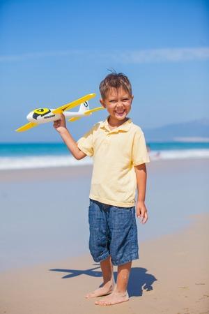 Boy with kite photo