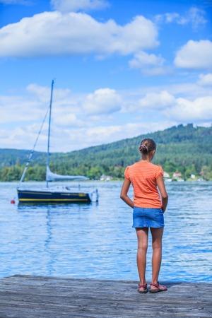 Kids at the lake photo