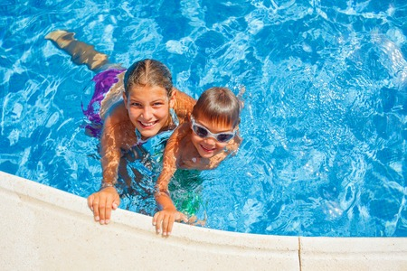Kids in the pool photo