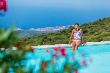 teen girl bikini: Girl enjoying summer holidays Stock Photo