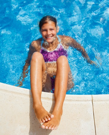 Girl in the pool photo