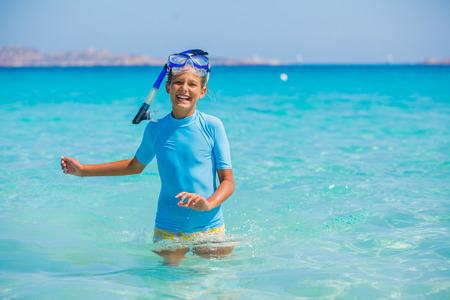Girl snorkeling photo