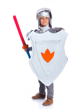 Boy dressed as a Knight photo