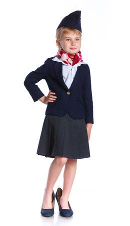 stewardess: Little stewardess Stock Photo