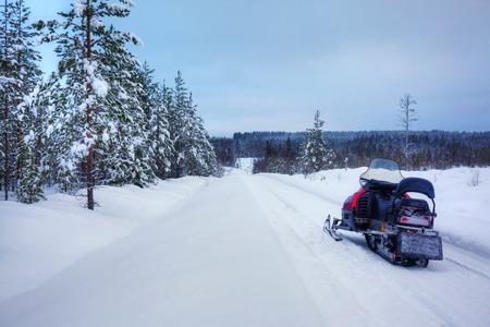 finnish: Finnish snowy lanscape Stock Photo