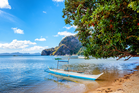 nido: Sailboat in El Nido. Palawan Island in the Philippines.