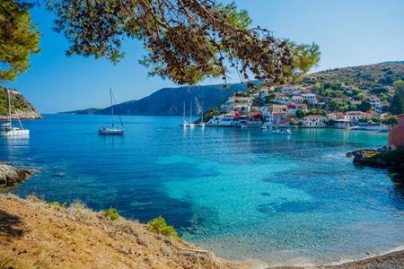kefallonia: Assos beach in Kefalonia, Greece Stock Photo