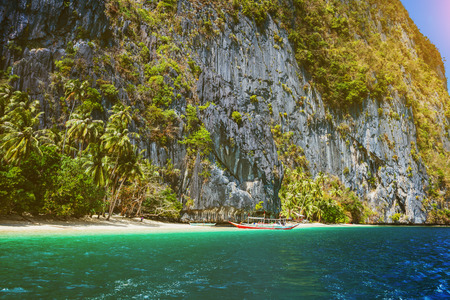Tropical beach, El-Nido, Philippines Stock Photo