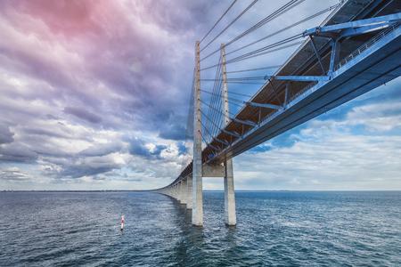 The bridge. Denmark, Sweden, Oresundsbron