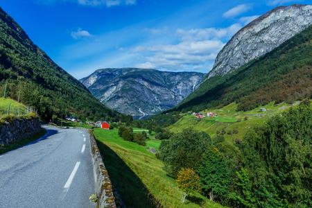 Norway road landscape