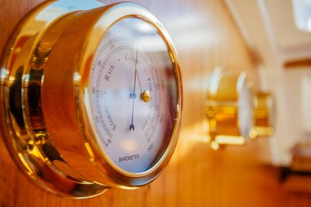 Shiny gold barometr Stock Photo