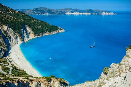 Mirtos beach at Kefalonia island, Greece Stock Photo