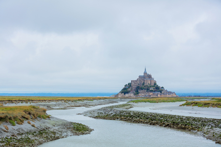 View of the Mont Saint Michel, Normandy France