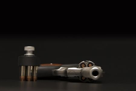 Stainless Steel .375 Magnum revolver. Stock Photo