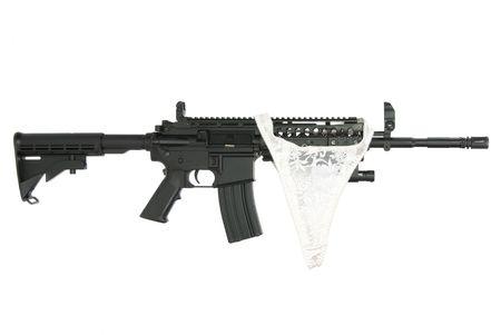 carbine: Modified M4 Carbine Stock Photo