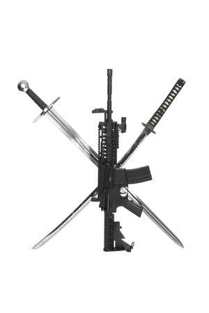 carbine: Modified M4 Carbine with Katana