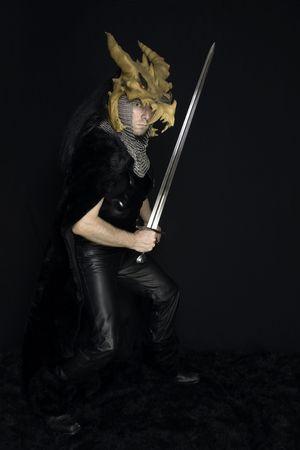 slayer: Dragon Slayer with sword... Stock Photo