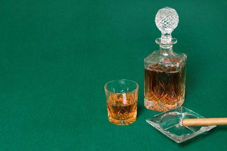 Enjoy a cigar and a glass of Scotch