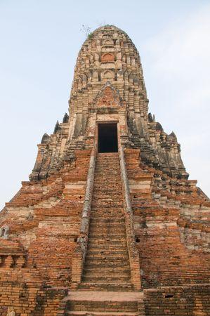 아시아에서 불교 사원 폐허.