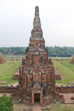 Buddhist temple ruins in Asia.