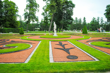 RUSSIA, ST. PETERSBURG - JUNE 2313: In the Tsarskoe Selo the park was opened after the restoration.