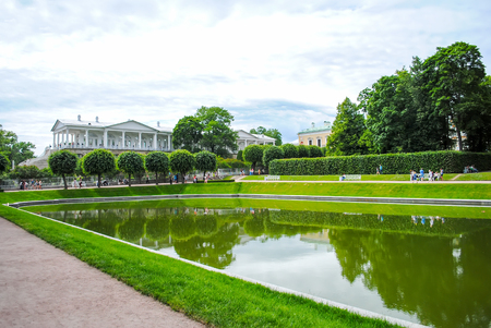 RUSSIA, SAINT-PETERBURG - JUNE 242013: Alexander park received visitors after restoration.