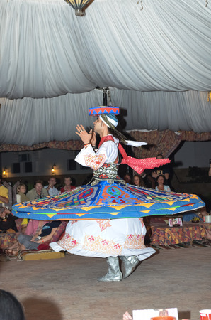 EGYPT, SHARM EL SHEIKH - DECEMBER 42013: Competition dancers held at the hotel.  One of the performances shown on the photo.