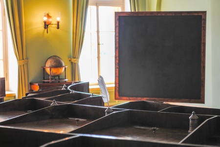 RUSSIA, ST. PETERSBURG - JUNE 222013: GRAMMAR SCHOOL, WHERE HE STUDIED THE FAMOUS RUSSIAN POET ALEXANDER PUSHKIN.  GRAMMAR SCHOOL  RECEIVED VISITORS AFTER RESTORATION OF MANY EXHIBITS.