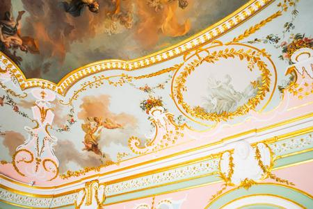 RUSSIA, SAINT-PETERBURG - JUNE 24/2013: ORANIENBAUM LOMONOSOV RECEIVED VISITORS AFTER RESTORATION OF MANY EXHIBITS.