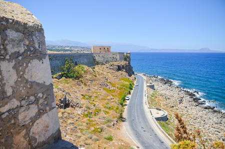 fortress on the shores of the azure sea