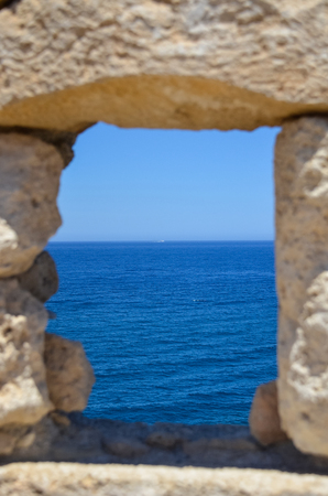 loop-hole with sea view Stock Photo
